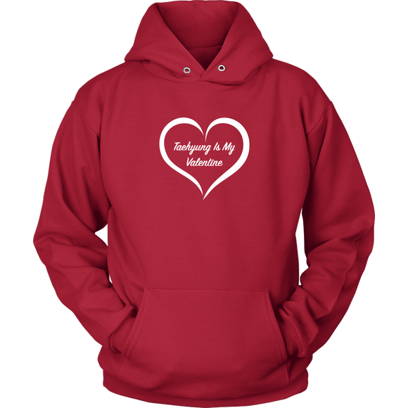 Taehyung Is My Valentine Red Unisex Hoodie