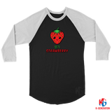Strawberry Unisex 3/4 Raglan