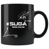 SUGA'S PISCES CONSTELLATION & SIGNATURE MUG