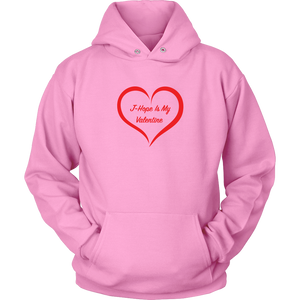 J-Hope Is My Valentine Pink Unisex Hoodie