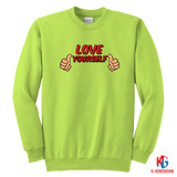 Love Yourself Youth Crewneck Sweatshirt