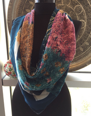 THIN UNIQUE FLORAL SCARF, 61