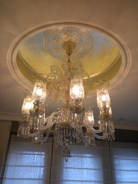 HANDMADE CRYSTAL PALACE CEILING LAMP, 8 LAMPS