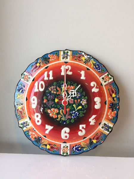 TURKISH CERAMIC WALL CLOCK