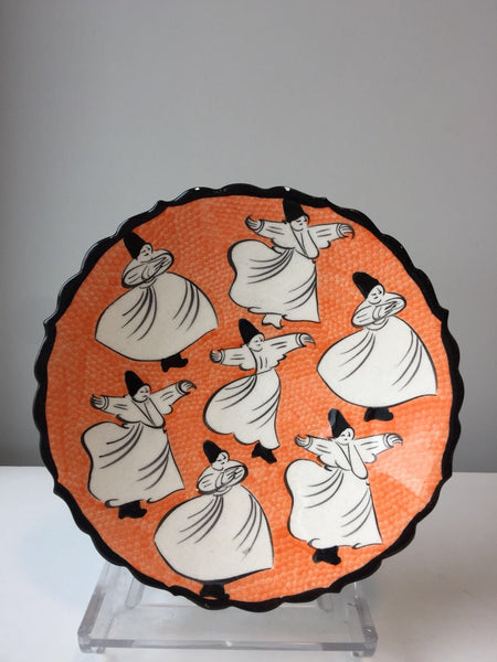 "WHIRLING DERVISH PLATE, 18 cm (7"")"