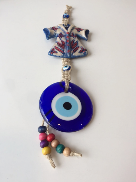 "EVIL EYE WALL HANGING WITH CAFTAN, 25 cm (9.8"")"