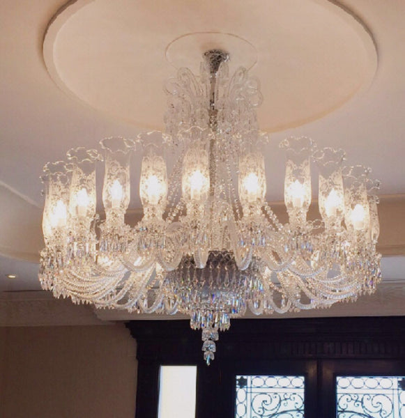 HANDMADE CRYSTAL PALACE CEILING LAMP, 22 LAMPS