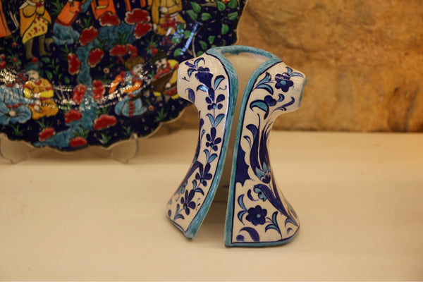 "IZNIK CERAMIC CAFTAN DECOR ACCENT, 16 cm ( 6. 2 "")"