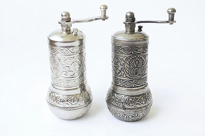 TURKISH GRINDER SET OF THREE, COFFEE / SPICE