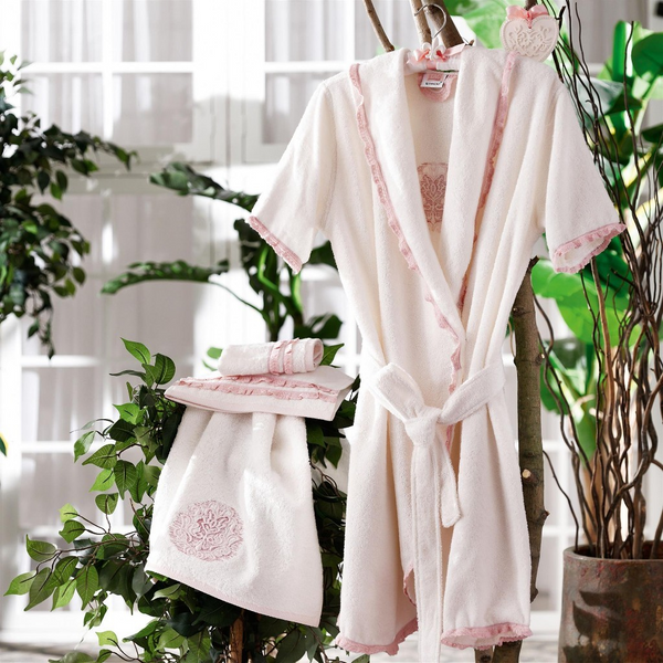 LUXURY BATHROBE SET, 7 PIECES