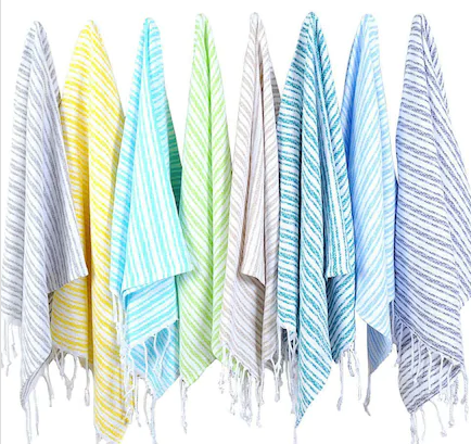 8 x SMALL PESHTEMAL TOWEL SET OF EIGHT