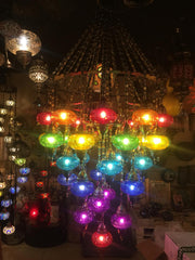 RAINBOW CHANDELIER, 36 LAMPS