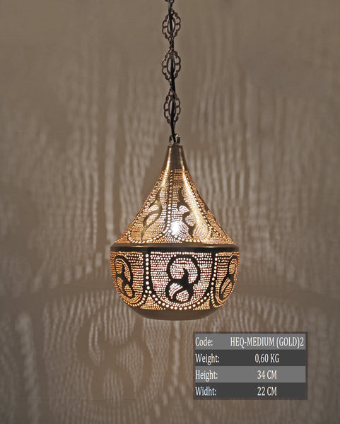 MEDIUM HANDMADE MOROCCAN HANGING LAMP