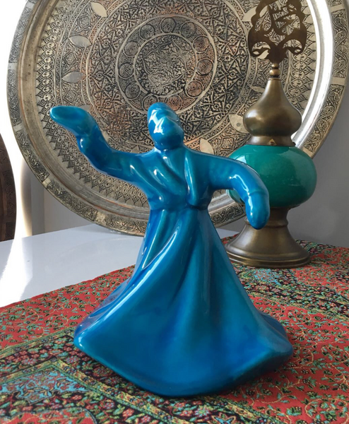 WHIRLING DERVISH CERAMIC FIGURE, 0015