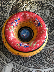 TURKISH CERAMIC ASHTRAY, YELLOW