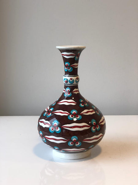 "UNIQUE TURKISH CERAMIC VASE, 20 CM (7.8"")"