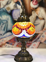 MOSAIC TABLE LAMP, ORANGE, 080