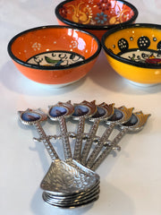 ISTANBUL HANDMADE COPPER SPOON SET FOR 6