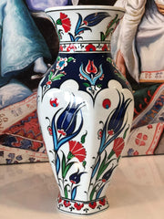 "TURKISH CERAMIC VASE, (20 CM, 7.8"")"