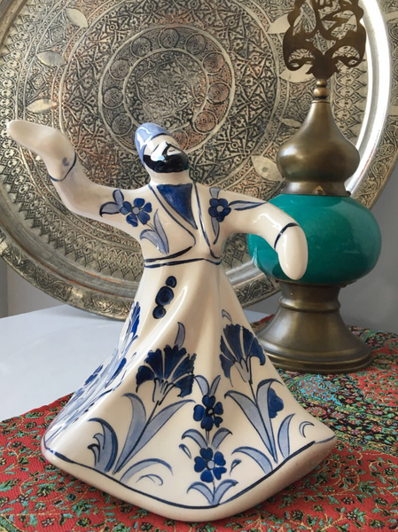 WHIRLING DERVISH CERAMIC FIGURE, 0016