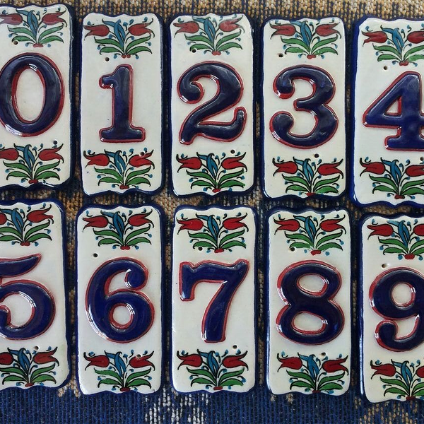 TURKISH CERAMIC DOOR NUMBER