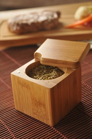 BAMBOO SPICE BOX , COFFEE / SPICE / SALT