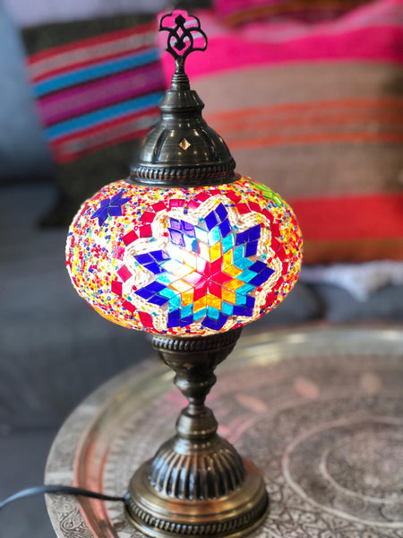 LARGE MOSAIC TABLE LAMP, MULTI 002