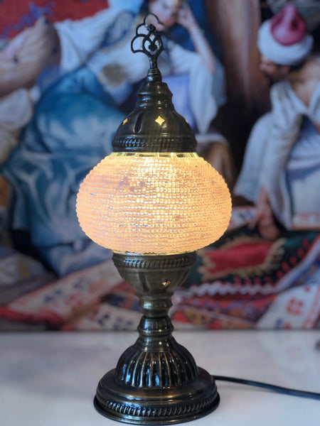 MOSAIC TABLE LAMP, LIGHT PINK