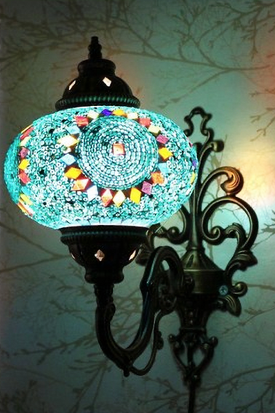 MOSAIC WALL LAMP, BLUE 007