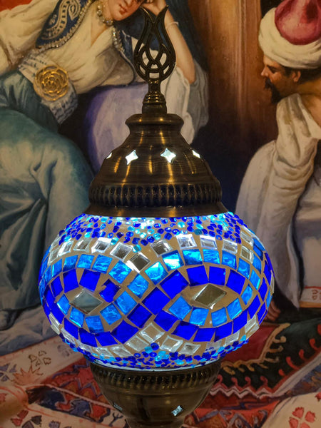 MOSAIC TABLE LAMP, BLUE, 087