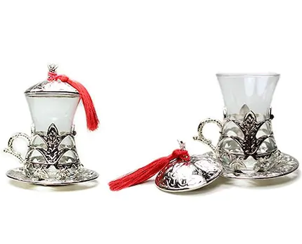 TRADITIONAL TURKISH TEA SET FOR SIX