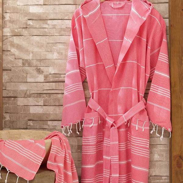 TURKISH PESHTEMAL BATHROBE SET
