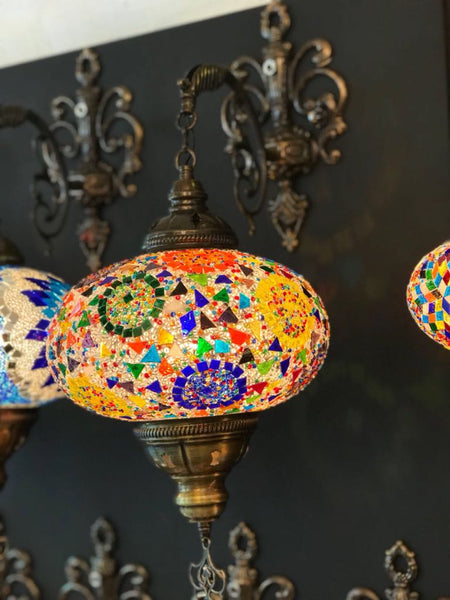 MOSAIC WALL LAMP, BRIGHT COLORS 003
