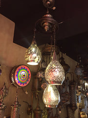 HANDMADE ARTWORK MOROCCAN CHANDELIER , 3 LAMPS