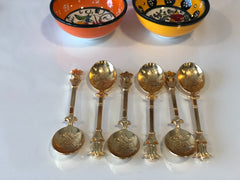 OTTOMAN HANDMADE COPPER SPOON SET FOR 6