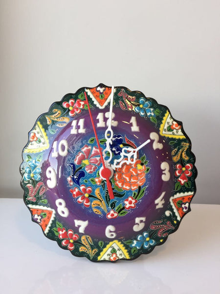 "TURKISH CERAMIC WALL CLOCK, 20 CM (7.8"")"