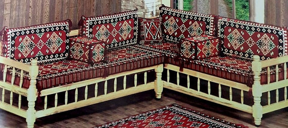 LARGE SEDIR CUSHION SET - ORIENTAL SOFA KILIMS