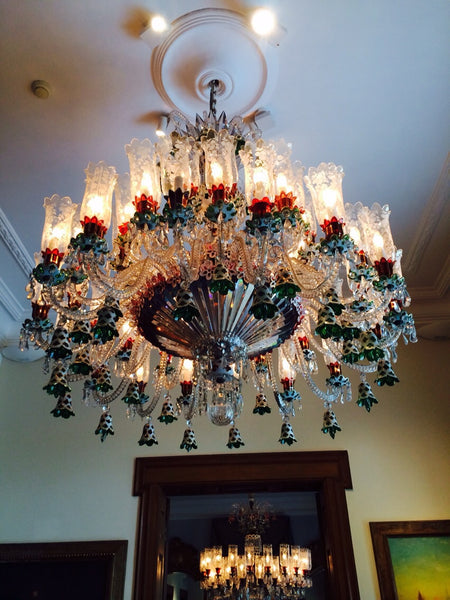 HANDMADE CRYSTAL PALACE CEILING LAMP, 42 LAMPS