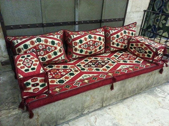 LARGE SEDIR CUSHION SET - TURKISH RESTAURANT / HOTEL DECOR, 005