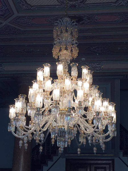 HANDMADE CRYSTAL PALACE CEILING LAMP, 56 LAMPS