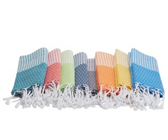 8 x TURKISH PESHTEMAL TOWEL SET OF EIGHT