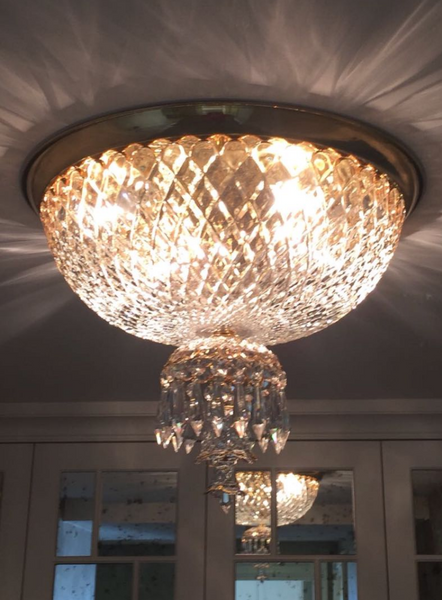 HANDMADE CRYSTAL PALACE CEILING LAMP