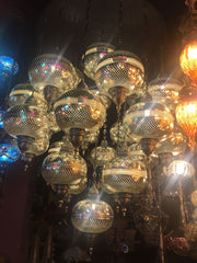 EXCLUSIVE MOROCCAN CHANDELIER, LARGE 25 GLOBES