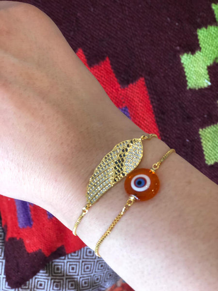 EVIL EYE HANDMADE BRACELET SET OF TWO, 005