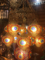UNIQUE FILIGREE CHANDELIER, 11 LAMPS