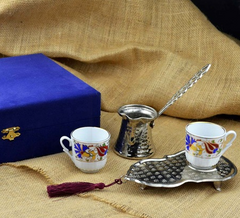 PORCELAIN TURKISH COFFEE GIFT SET WITH VELVET BOX