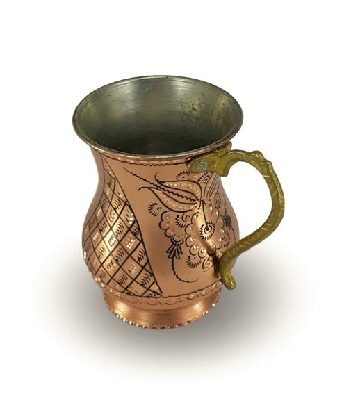 HAND-HAMMERED COPPER MUG SET FOR SIX
