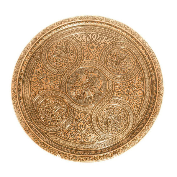 TURKISH COPPER TRAY, GOLD COLOR