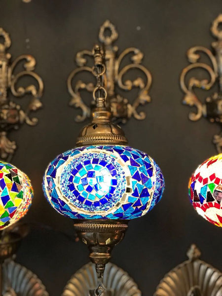 MOSAIC WALL LAMP, BLUE 004