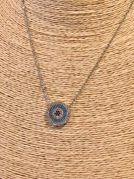 UNIQUE EVIL EYE NECKLACE, ROUND